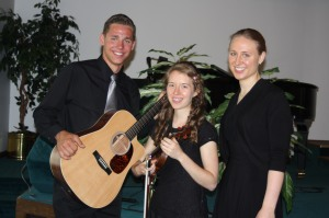 Daniel, Emillie and Rebekah at Brandon and Kristy Jane's wedding